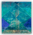 <hr><h3>1. Turquoise & Blue Abstract Geometric Composition</h3>