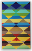 <hr><h3>2. Abstract  Geometric painting on canvas. Title:'Seismic Force'</h3>
